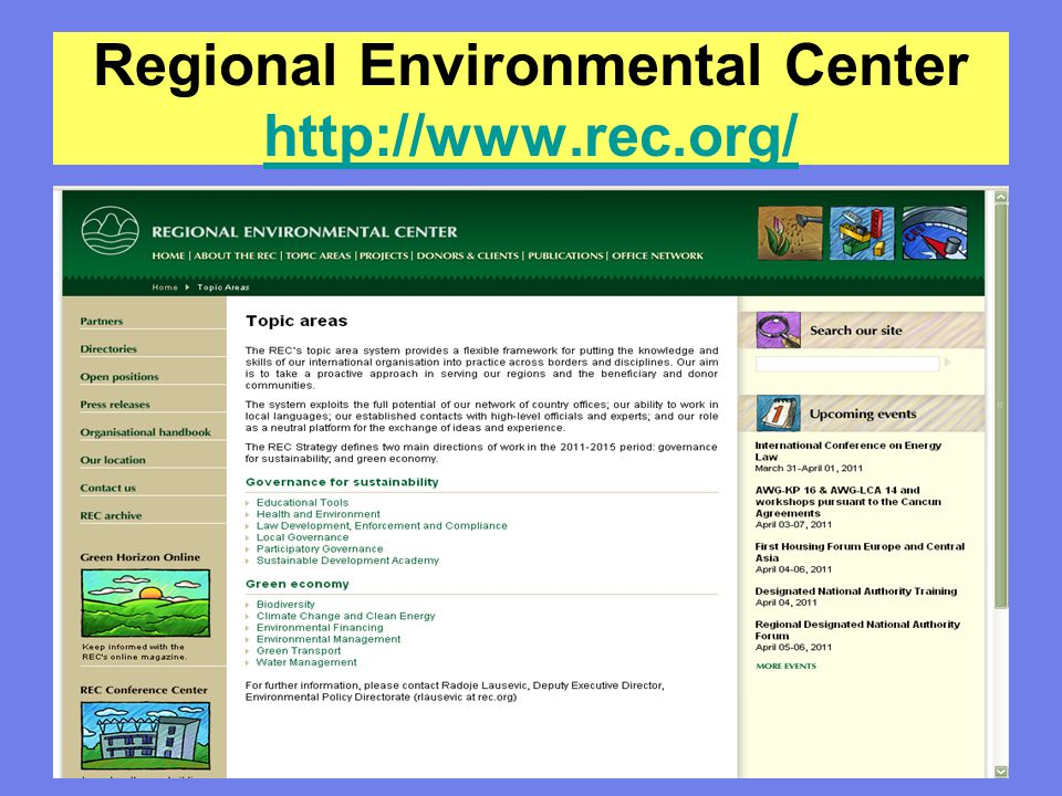 Regional Environmental Center http://www.rec.org/
