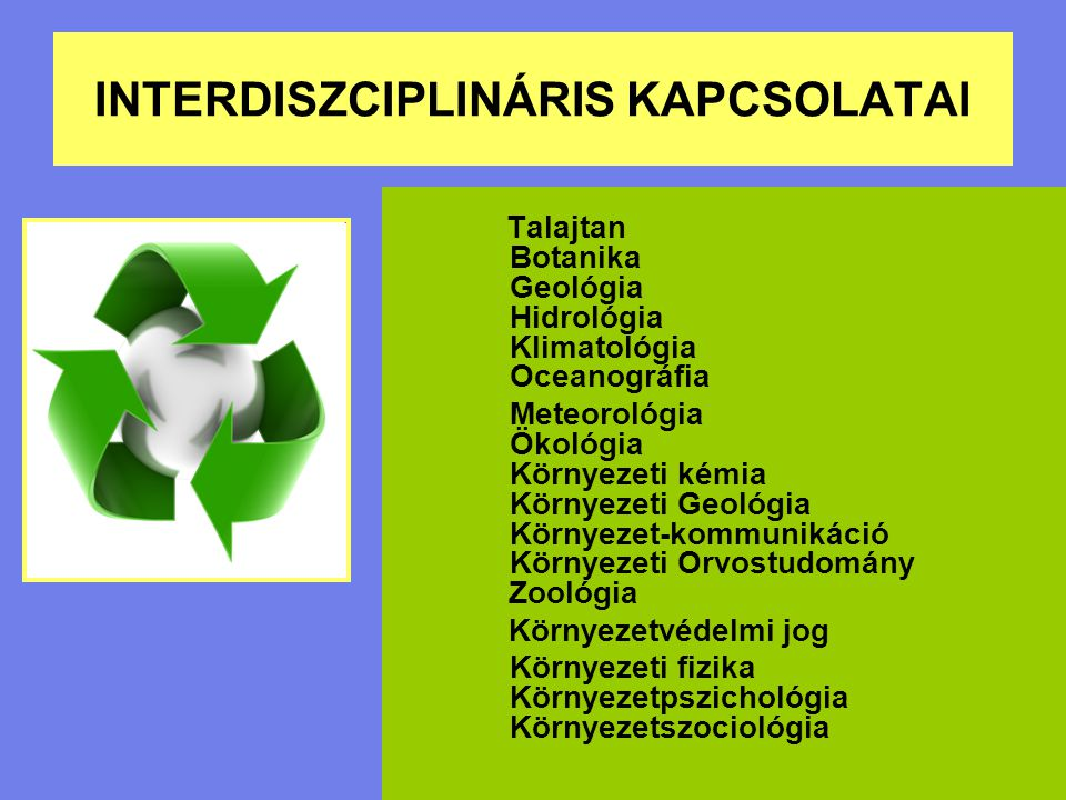 INTERDISZCIPLINÁRIS KAPCSOLATAI
