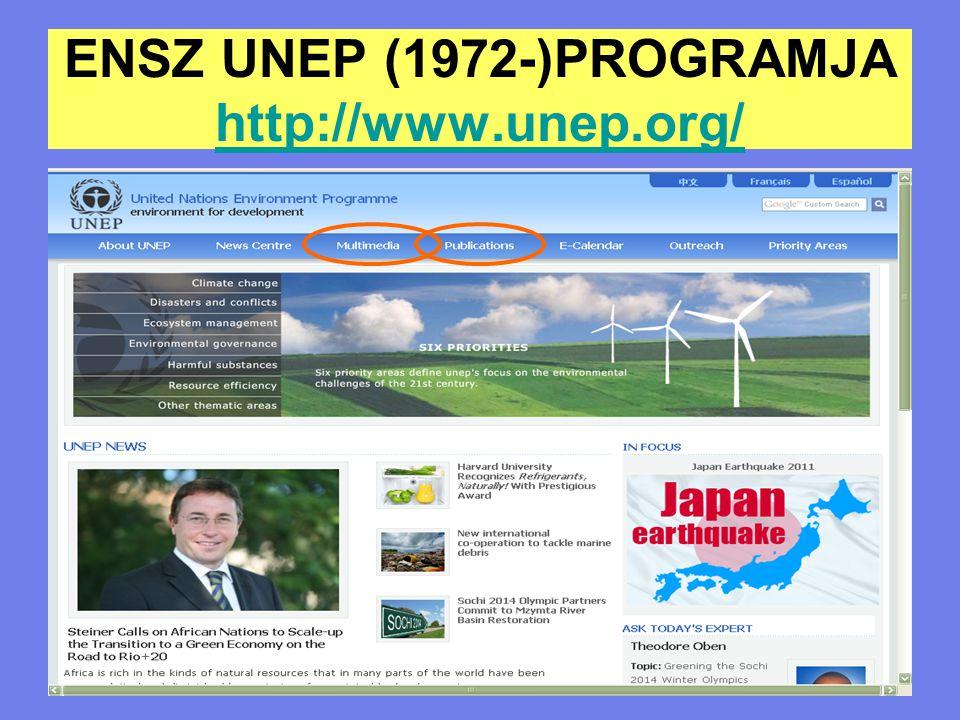 ENSZ UNEP (1972-)PROGRAMJA http://www.unep.org/