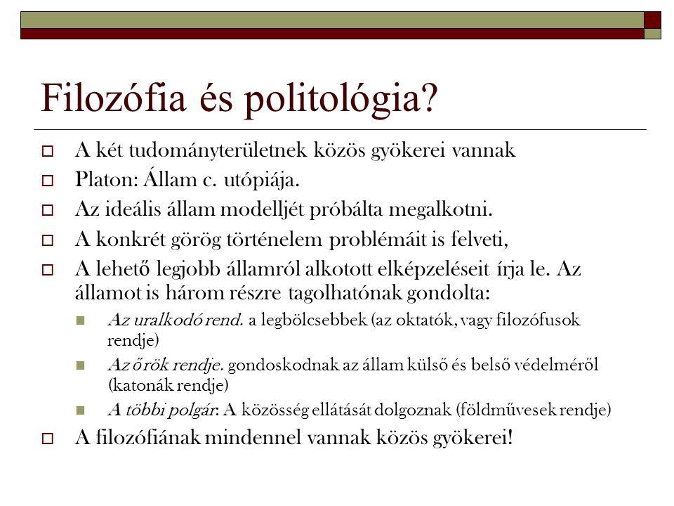 Filozófia és politológia