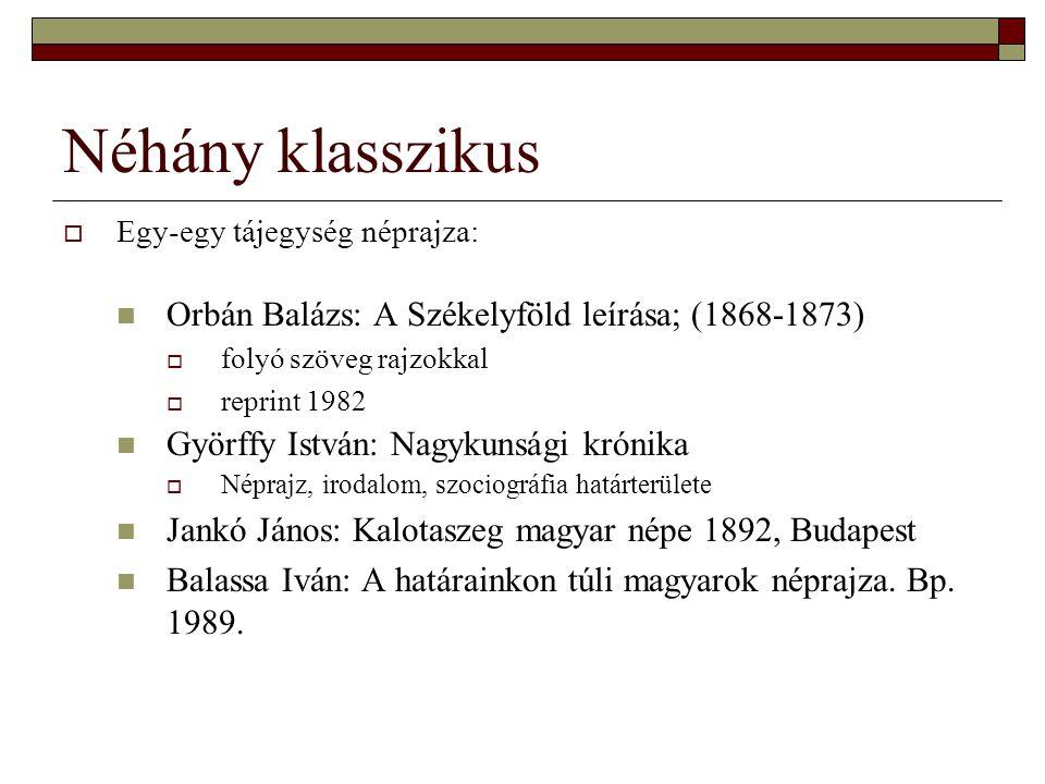 Néhány klasszikus Orbán Balázs: A Székelyföld leírása; (1868-1873)