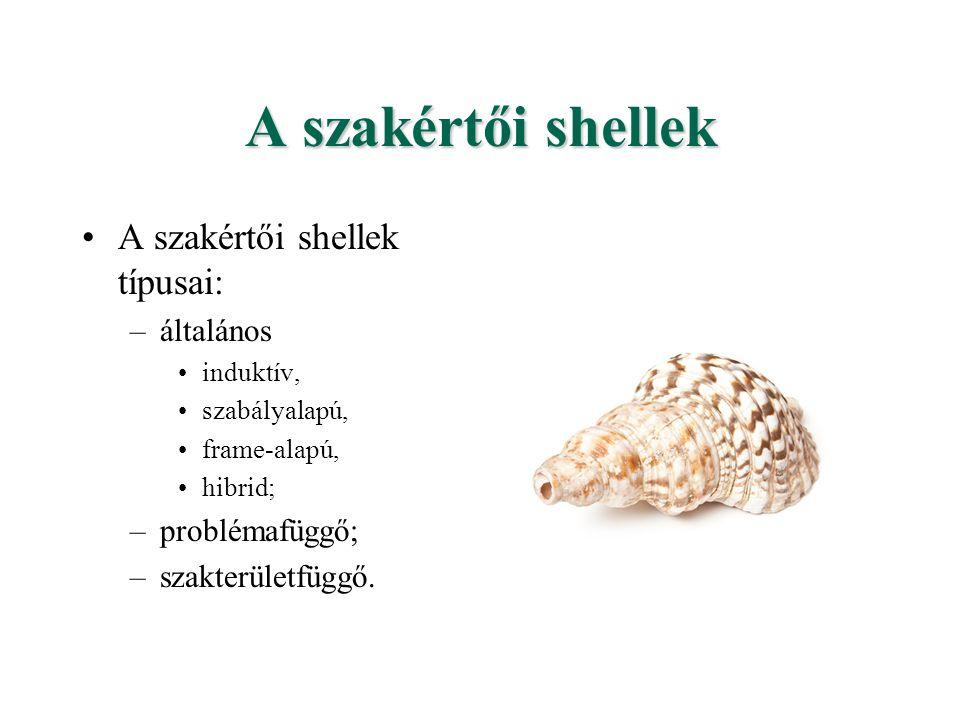 A szakértői shellek A szakértői shellek típusai: általános