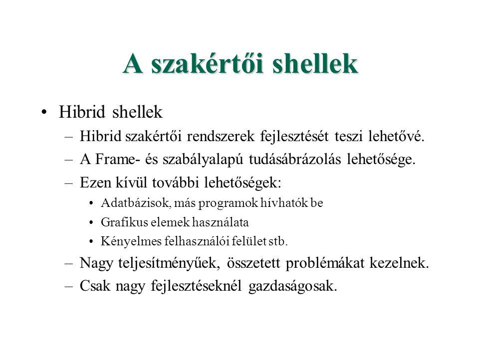 A szakértői shellek Hibrid shellek