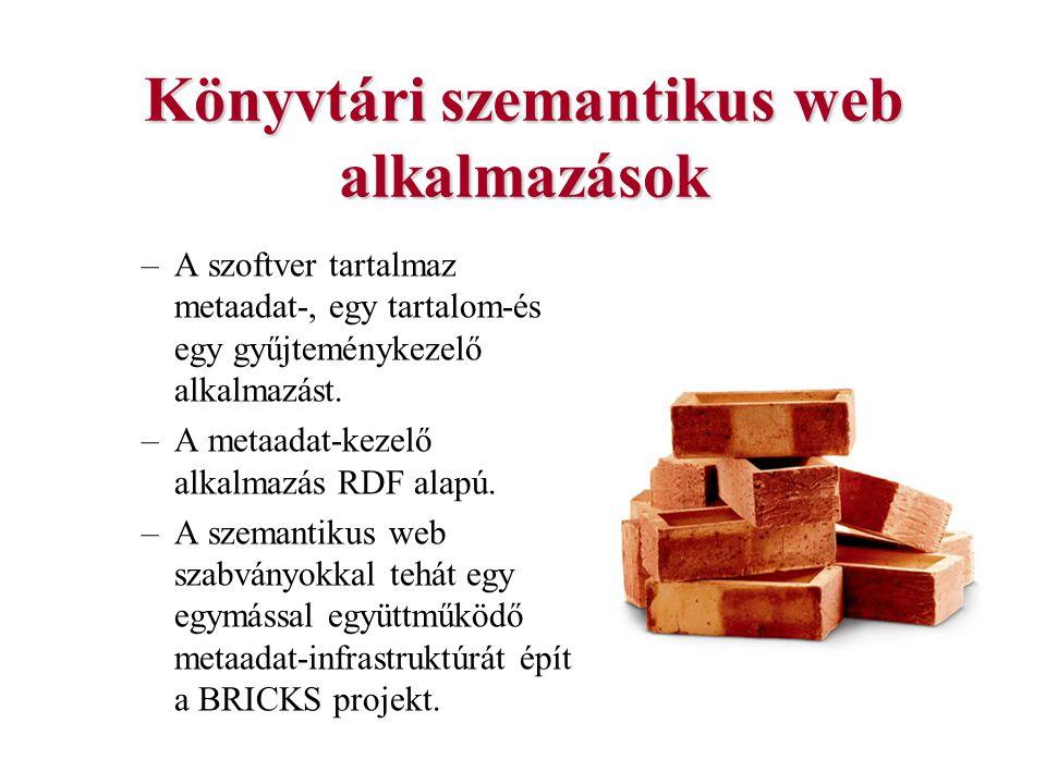 Könyvtári szemantikus web alkalmazások