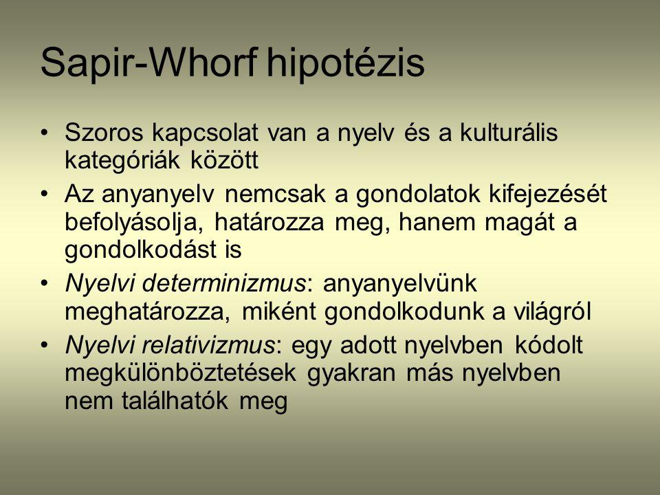 Sapir-Whorf hipotézis