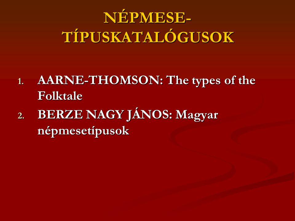 NÉPMESE-TÍPUSKATALÓGUSOK