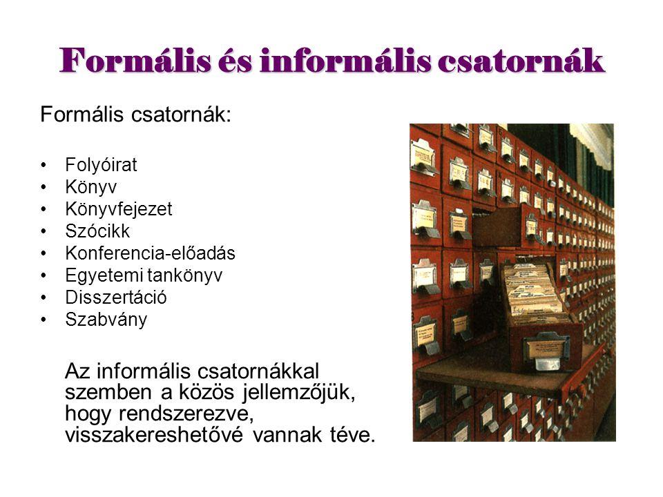 Formális és informális csatornák