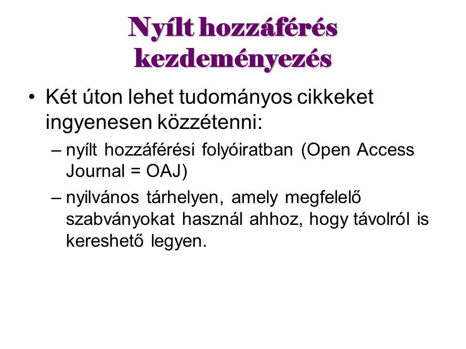 Nyílt hozzáférés kezdeményezés