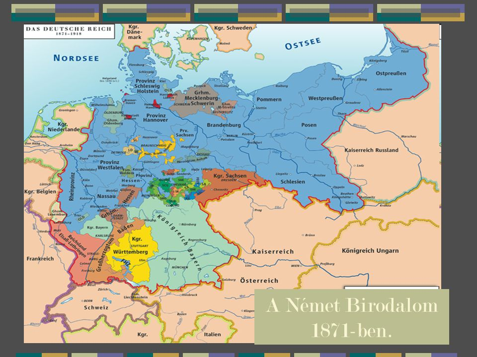 A Német Birodalom 1871-ben.