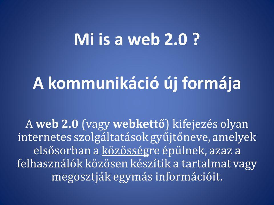 Mi is a web 2.0 A kommunikáció új formája