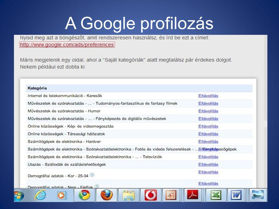 A Google profilozás