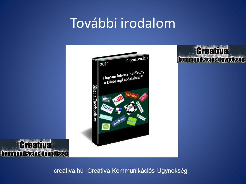 További irodalom creativa.hu Creativa Kommunikációs Ügynökség