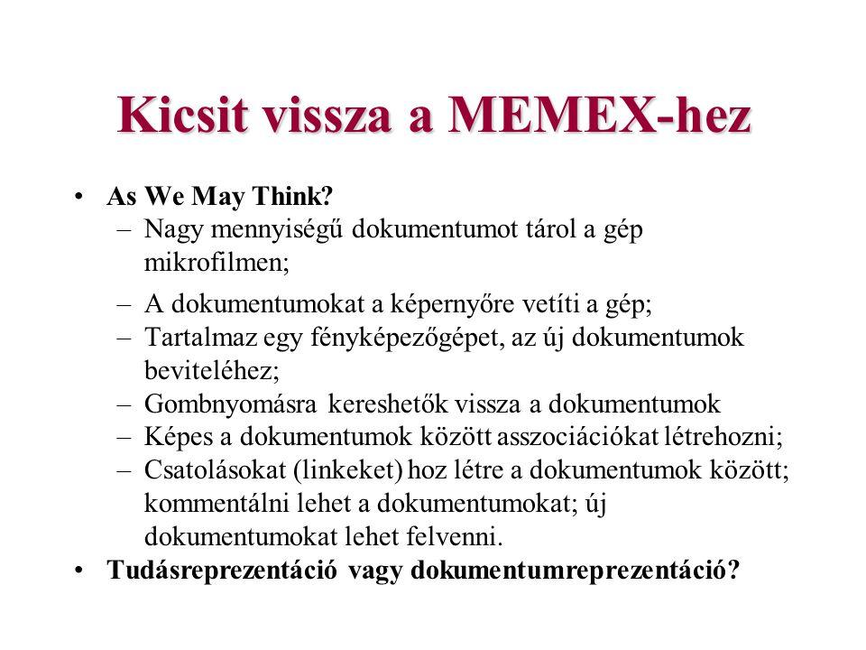 Kicsit vissza a MEMEX-hez