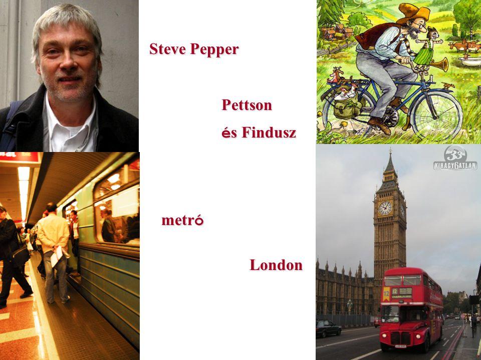 Steve Pepper Pettson és Findusz metró London