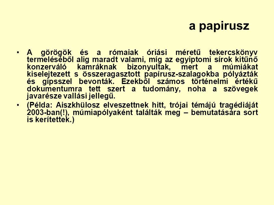 a papirusz
