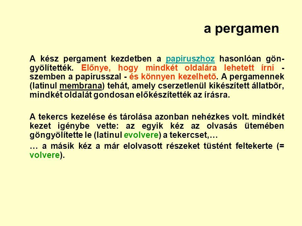 a pergamen