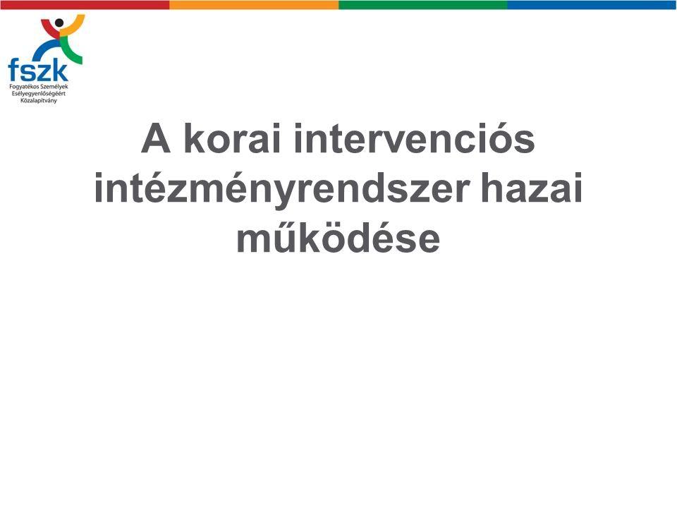 A korai intervenciós intézményrendszer hazai működése