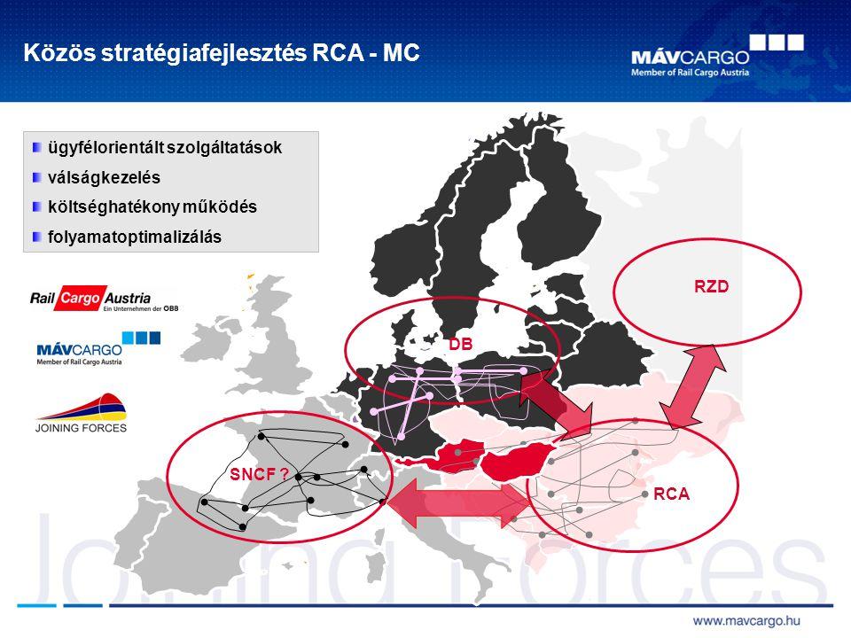 Közös stratégiafejlesztés RCA - MC