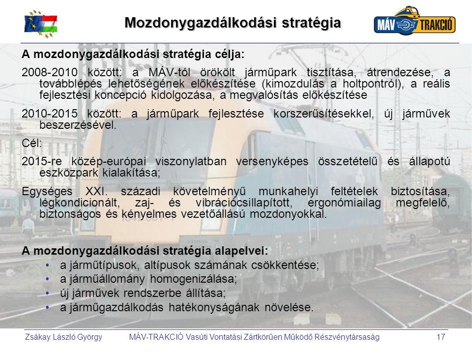 Mozdonygazdálkodási stratégia