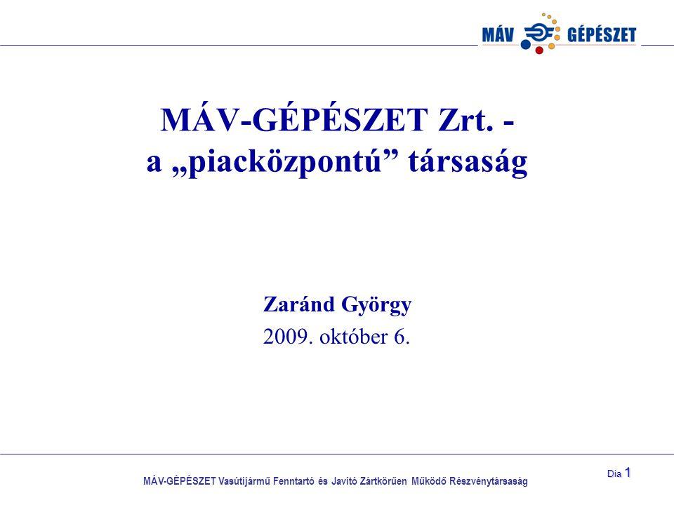 """MÁV-GÉPÉSZET Zrt. - a """"piacközpontú társaság"""
