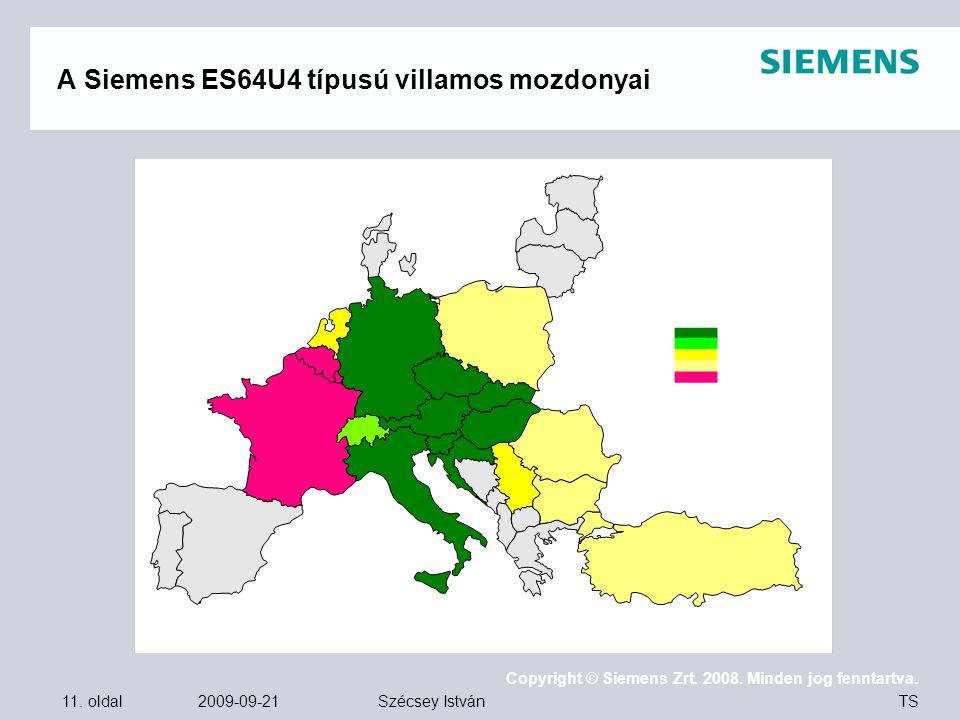 A Siemens ES64U4 típusú villamos mozdonyai