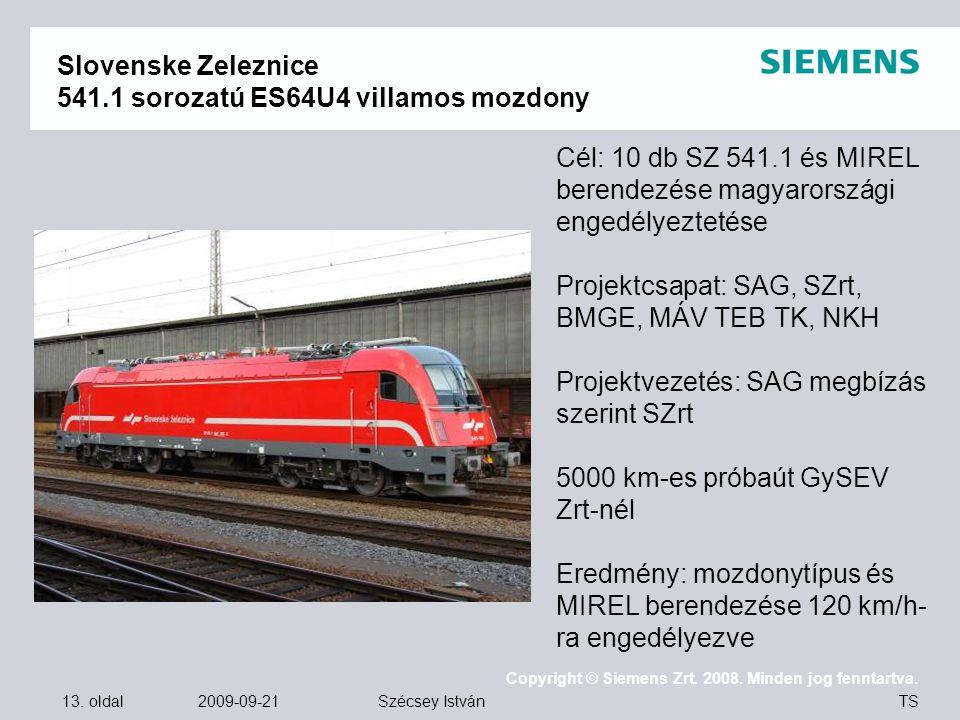 Slovenske Zeleznice 541.1 sorozatú ES64U4 villamos mozdony