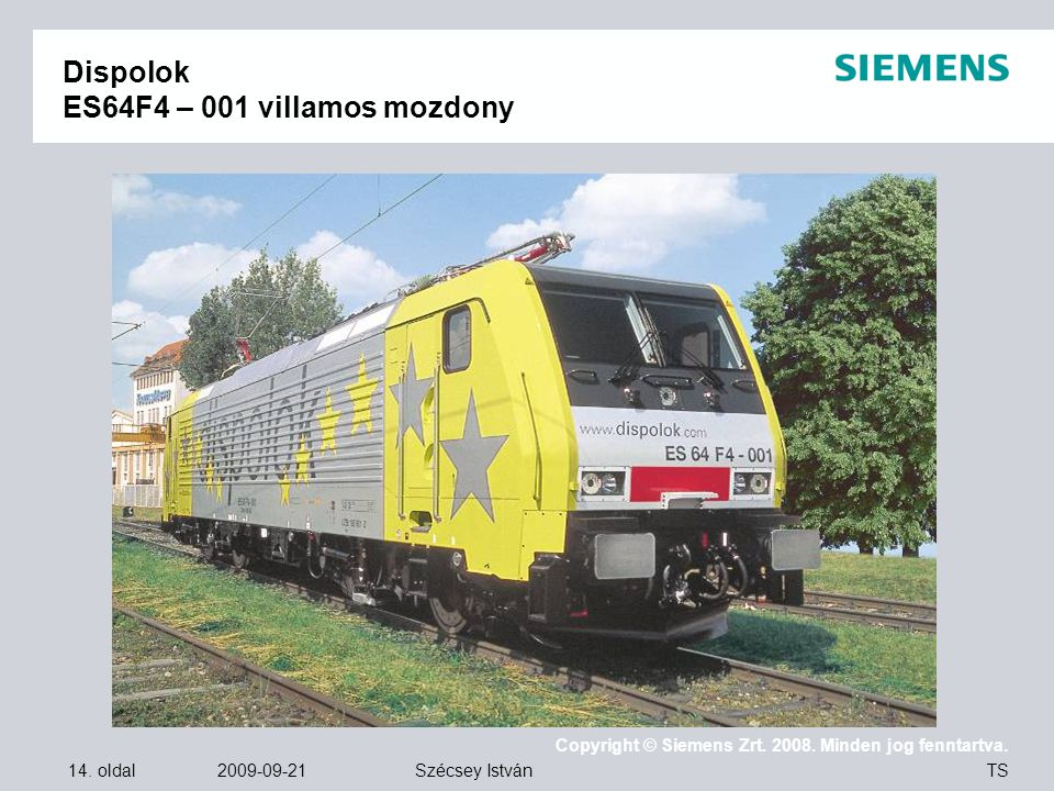 Dispolok ES64F4 – 001 villamos mozdony