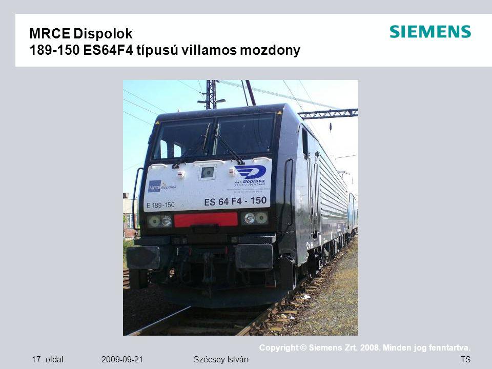 MRCE Dispolok 189-150 ES64F4 típusú villamos mozdony