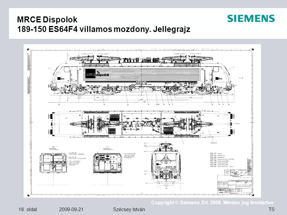 MRCE Dispolok 189-150 ES64F4 villamos mozdony. Jellegrajz