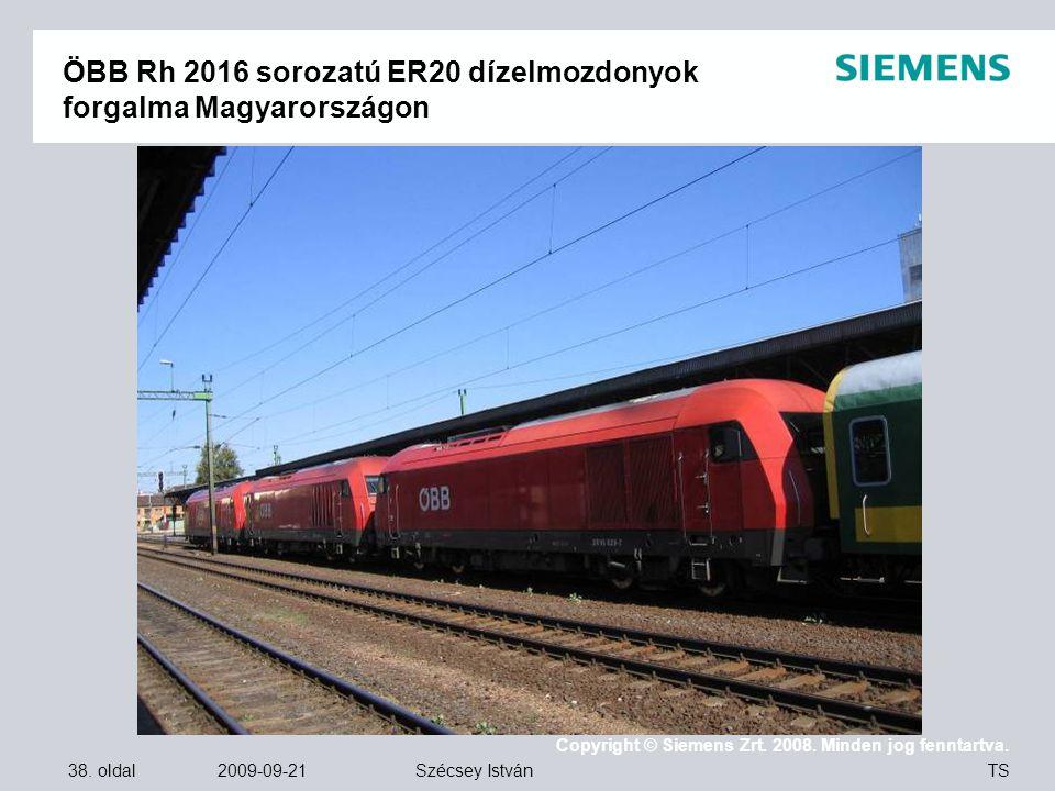 ÖBB Rh 2016 sorozatú ER20 dízelmozdonyok forgalma Magyarországon