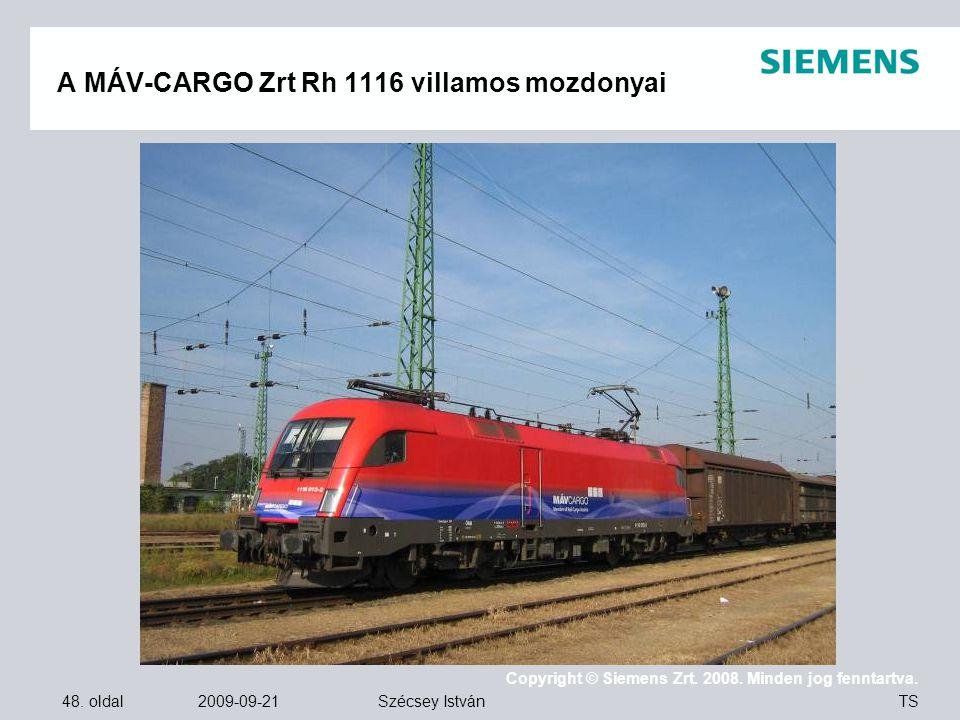 A MÁV-CARGO Zrt Rh 1116 villamos mozdonyai