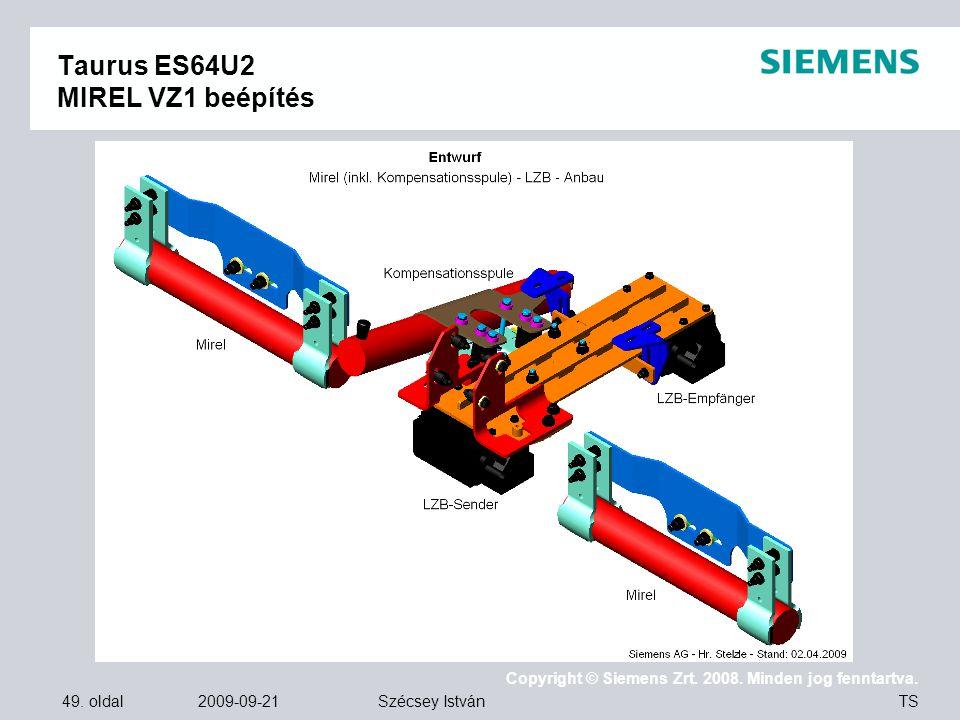 Taurus ES64U2 MIREL VZ1 beépítés
