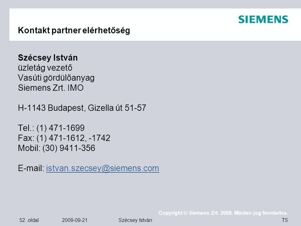 Kontakt partner elérhetőség