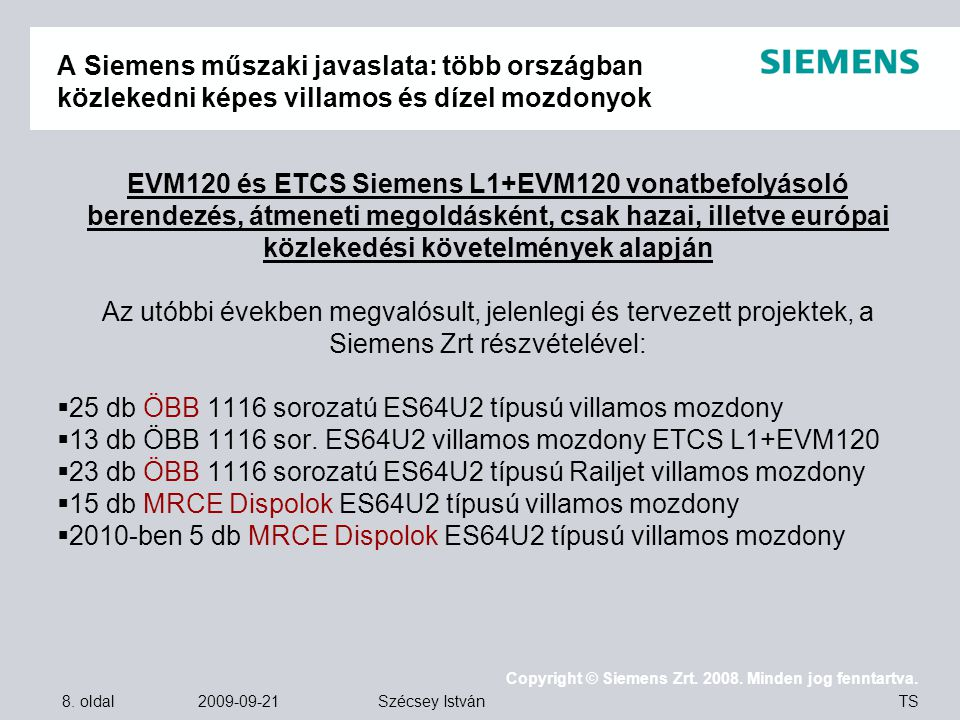 A Siemens műszaki javaslata: több országban közlekedni képes villamos és dízel mozdonyok