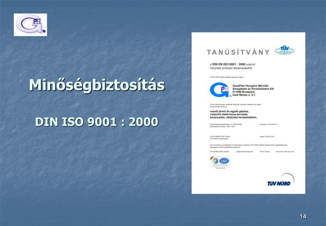 Minőségbiztosítás DIN ISO 9001 : 2000