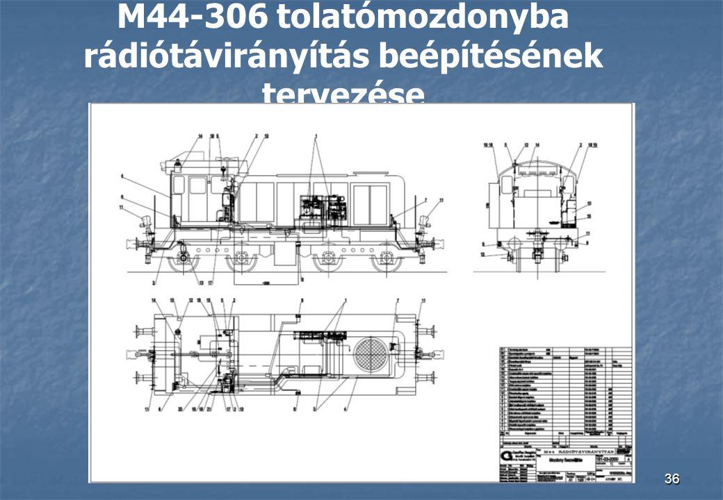 M44-306 tolatómozdonyba rádiótávirányítás beépítésének tervezése