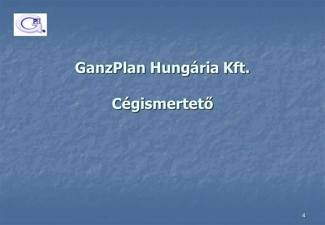 GanzPlan Hungária Kft. Cégismertető