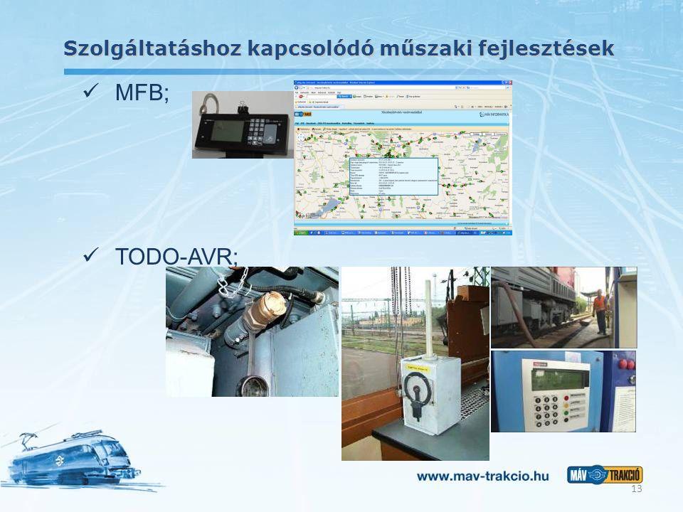 Szolgáltatáshoz kapcsolódó műszaki fejlesztések