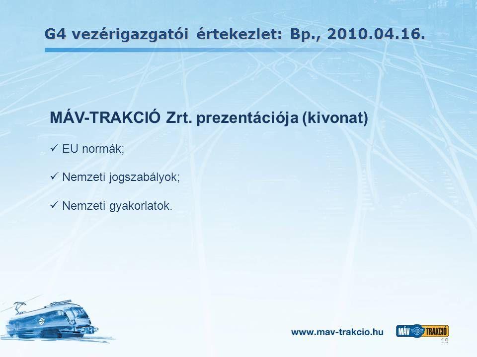 MÁV-TRAKCIÓ Zrt. prezentációja (kivonat)