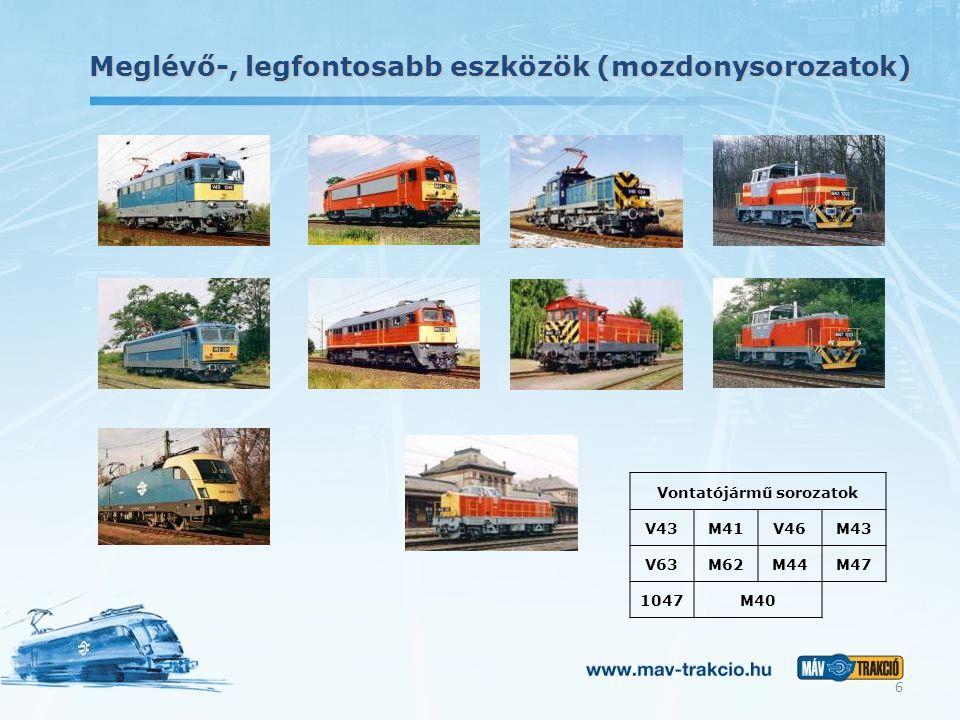 Vontatójármű sorozatok