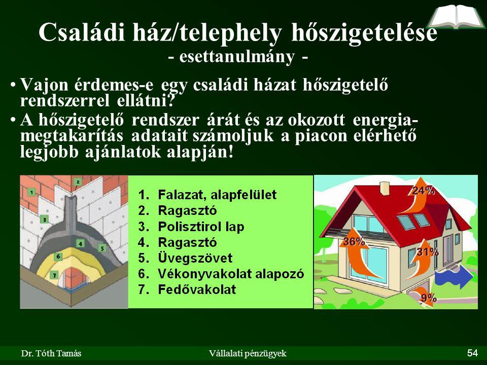 Családi ház/telephely hőszigetelése - esettanulmány -