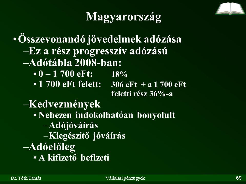 Magyarország Összevonandó jövedelmek adózása