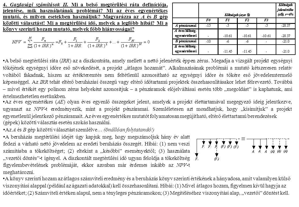 4. Gazdasági számítások II