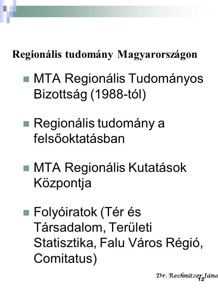 Regionális tudomány Magyarországon