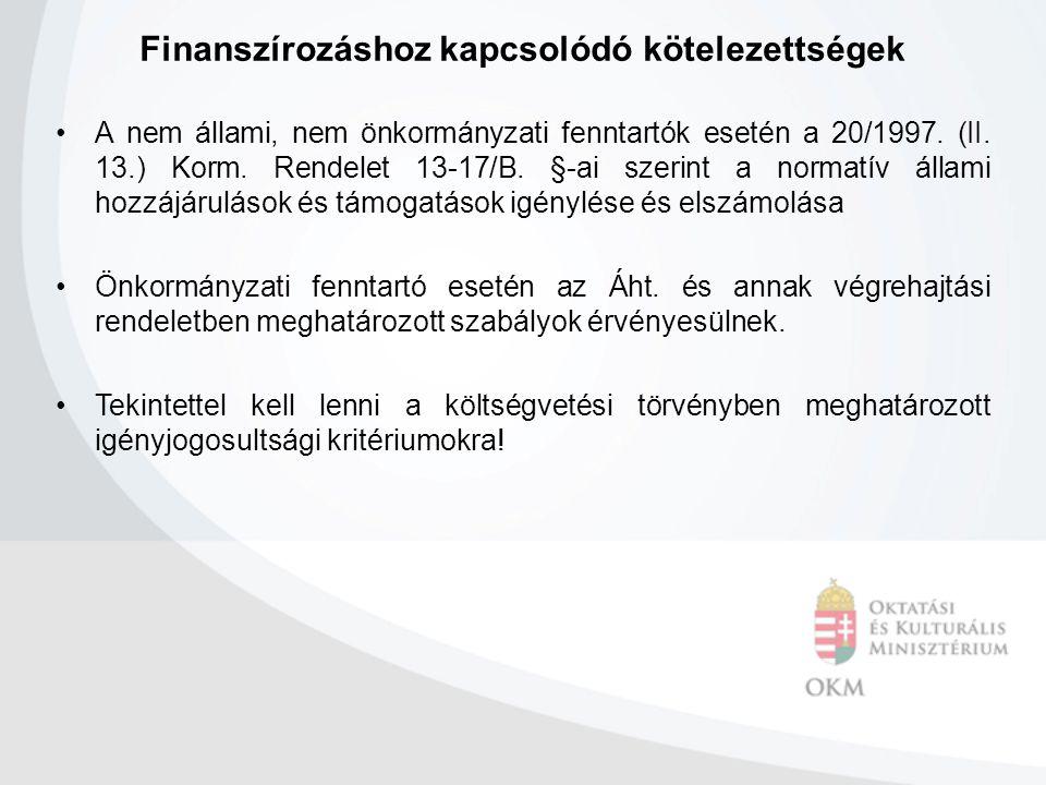 Finanszírozáshoz kapcsolódó kötelezettségek