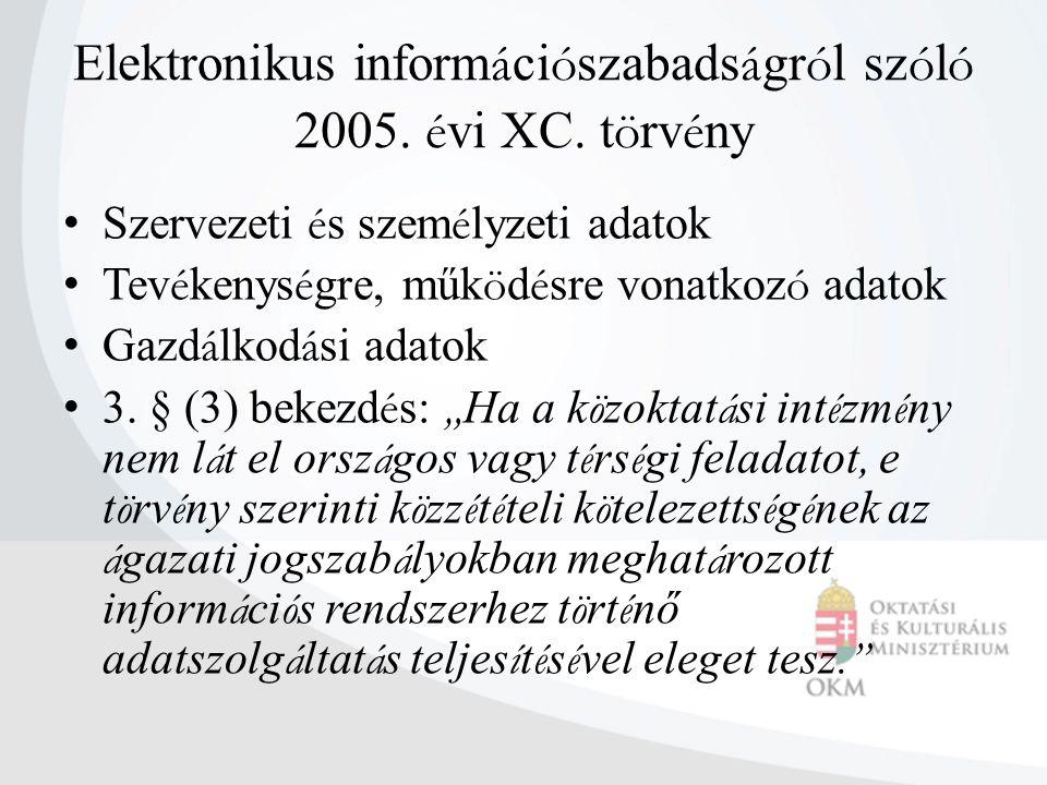 Elektronikus információszabadságról szóló 2005. évi XC. törvény