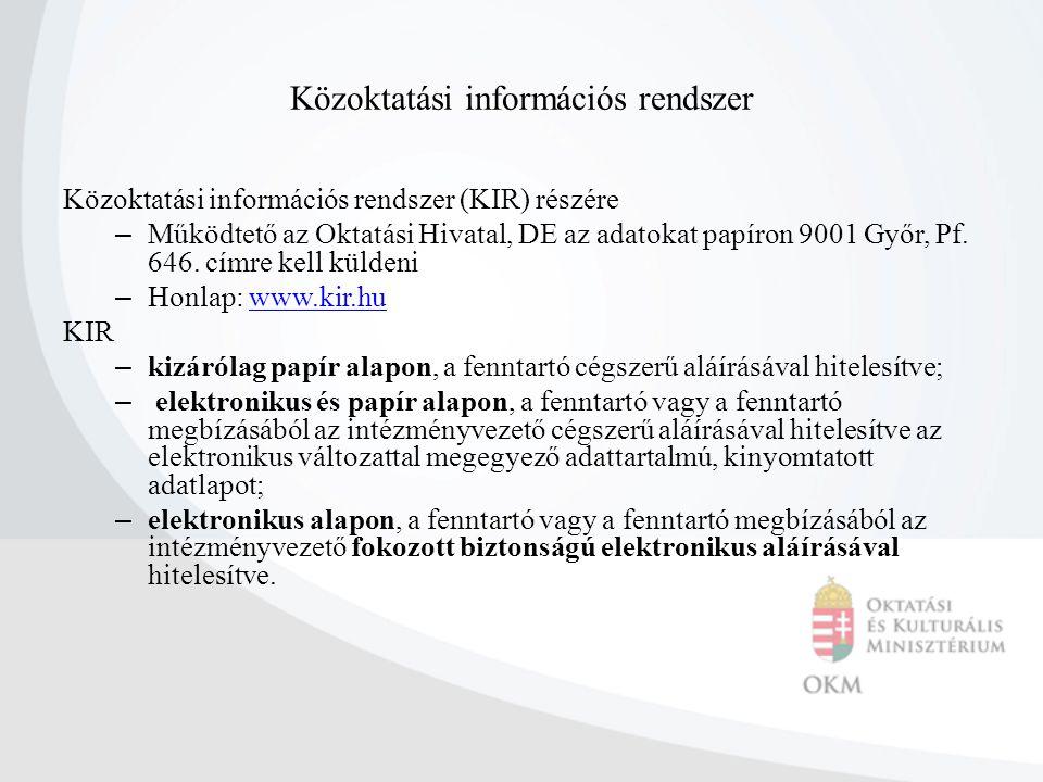 Közoktatási információs rendszer
