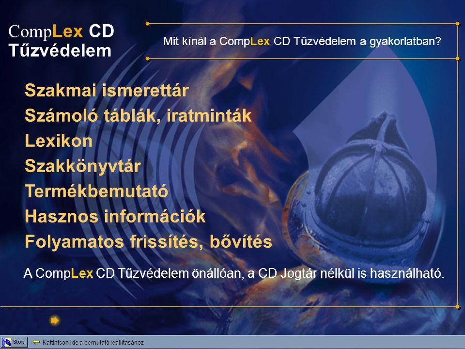 Mit kínál a CompLex CD Tűzvédelem a gyakorlatban