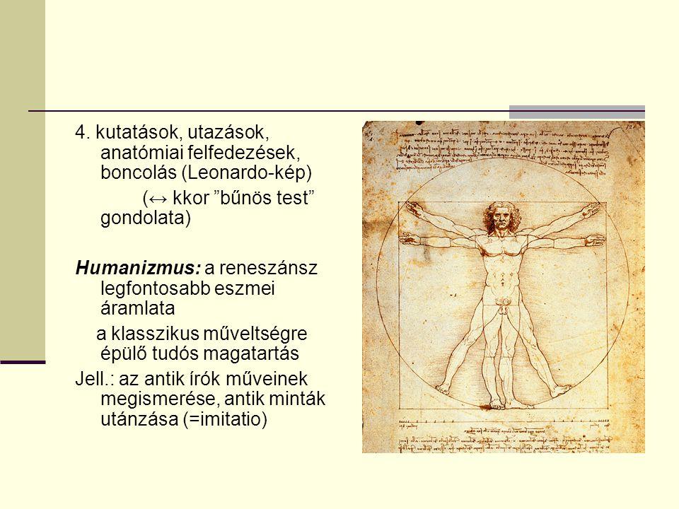 4. kutatások, utazások, anatómiai felfedezések, boncolás (Leonardo-kép)