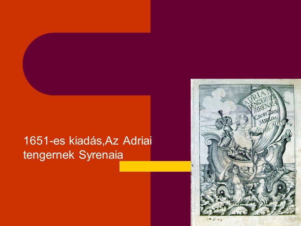 1651-es kiadás,Az Adriai tengernek Syrenaia